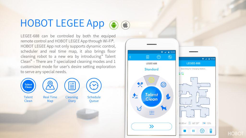LEGEE 688 прахосмукачка и подомиячка с приложение за телефон